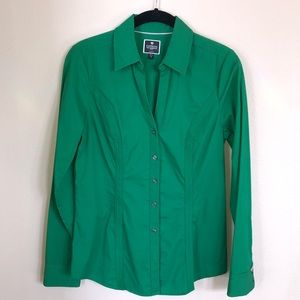 EXPRESS The Essential Shirt Kelly Green